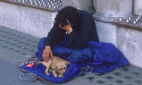 "beggar Begging in London: one former drug addict says: ""People beg for a"