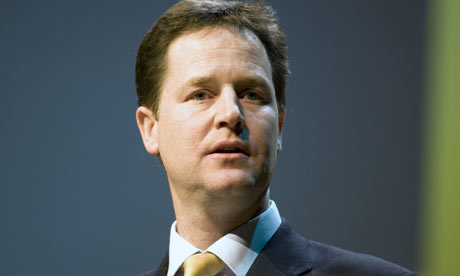 Nick Clegg leader of the Liberal Democrats
