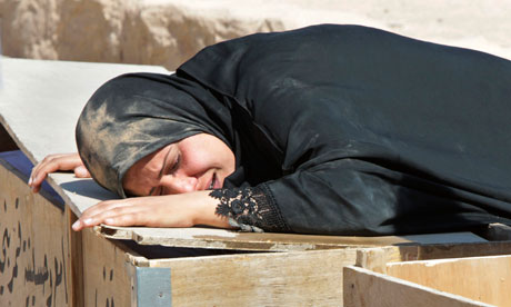 Baghdad woman weeps