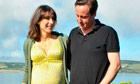David and Samantha Cameron in Cornwall