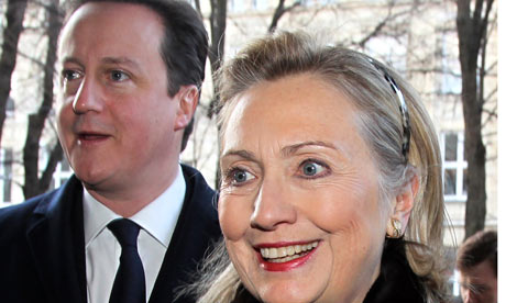 Hillary Clinton,  David Cameron