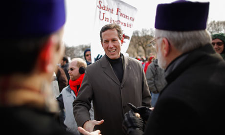 GOP presidential hopeful Rick Santorum