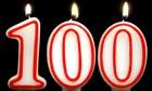 Centenarian birthday candles.