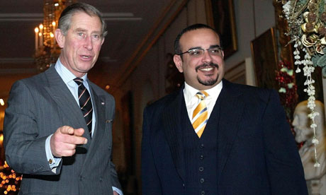 Royal guest list Salman bin Hamad alKhalifa with Prince Charles in 2004