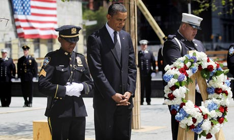Obama Attends Wreath