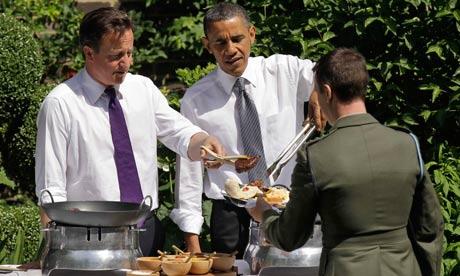 Barack Obama and David Cameron BBQ