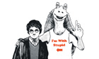Harry Potter and Star Wars illustration