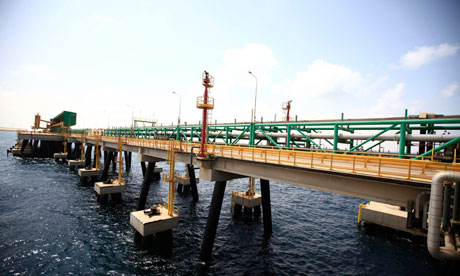 A view of the Mellitah Oil and Gas complex during a handover ceremony in Mellitah