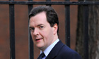 Britain's Chancellor of the Exchequer Osborne leaves Downing Street in central London