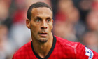 Rio Ferdinand during the match against Stoke City