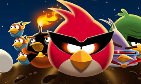 The Guardian - ebooks compete with Angry Birds