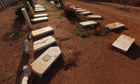Gravestones damaged by an Islamist group 