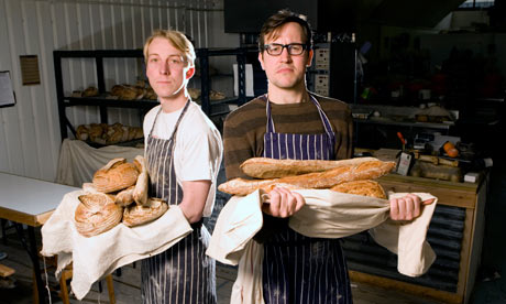 Observer writer Tim Lewis, right, and baker Ben MacKinnon at the E5 Bakehouse