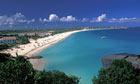Caribbean Anguilla beach scenic landscape above Mead's Bay beach