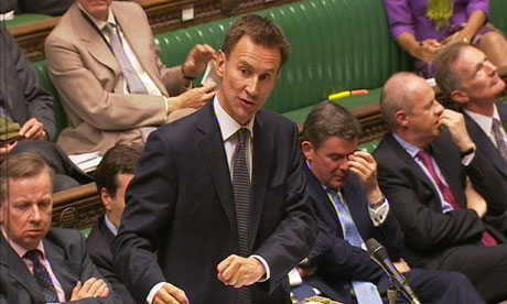 Jeremy Hunt respond to allegations in the Commons