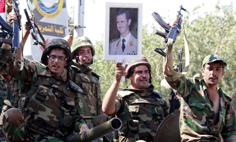 syrian troops backing Assad