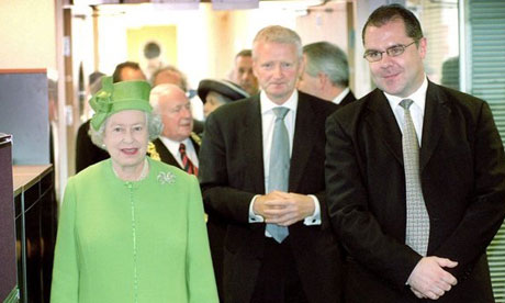 The Queen visits the Herald's offices.