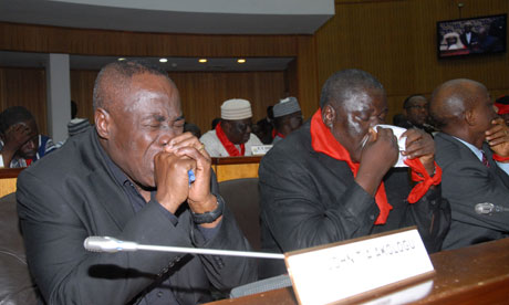 Members of parliament weep after Ghana P