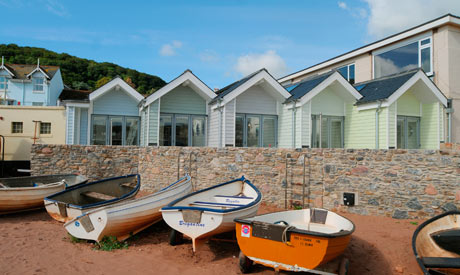 New beach huts in Shaldon