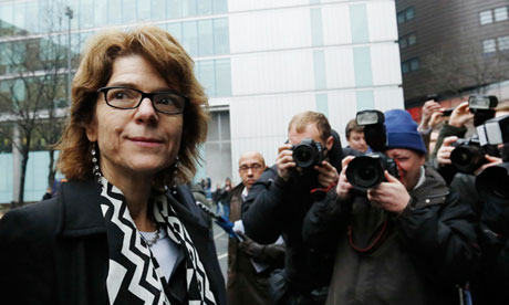 Vicky Pryce leaves Southwark Crown Court in London