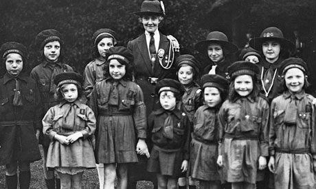 Girl Guides and Brownies in their camp at Richmond Palace, Surrey