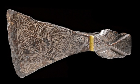 viking Silver-inlaid axehead
