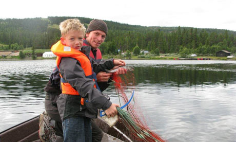 Catching fish in Norway