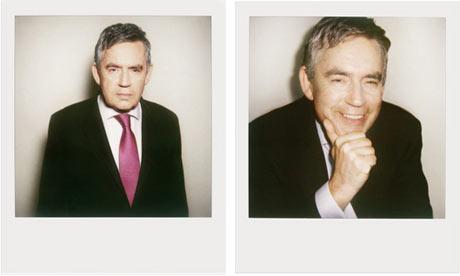 Gordon Brown photographed by Rankin on Polaroid 600 film