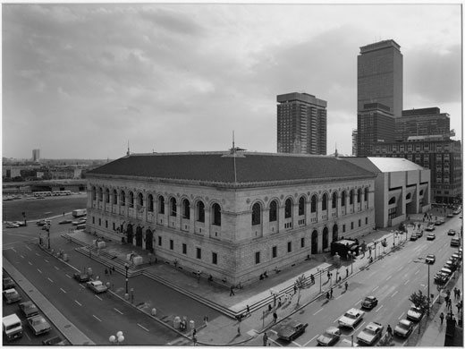 New Topographics: View Of The Boston Public Library, 1974 by Nicholas Nixon