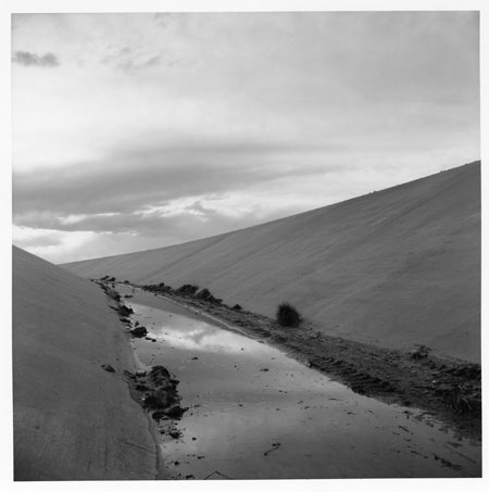 New Topographics: Irrigation Canal, Albuquerque, New Mexico, 1974 by Frank Gohlke