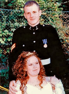 Angela and Lance Corporal Ross Nicholls