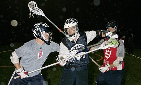 Robert Hudson playing Lacrosse