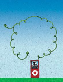 ipod tree illustration