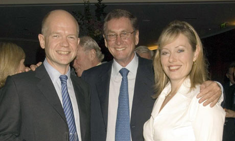 Lord Ashcroft with William and Ffion Hague