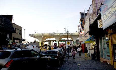 Street view in Ciudad Juarez, Mexico