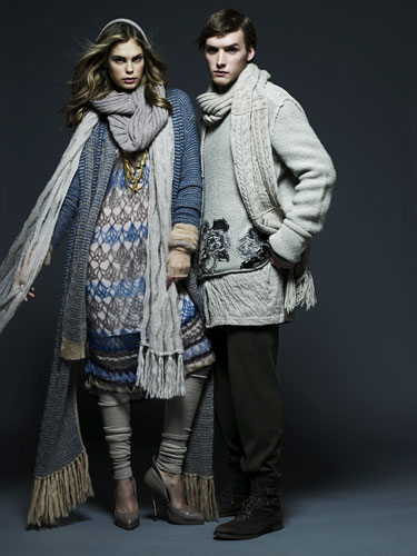 Key trends: Knitwear: Models wearing knitwear