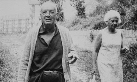 Vladimir Nabokov and his wife Vera