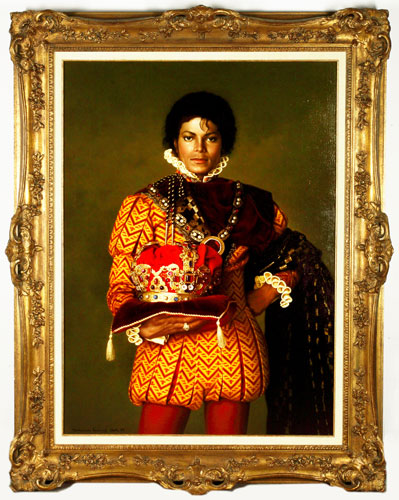 Michael Jackson's auction: Portrait of Michael Jackson dressed as a King