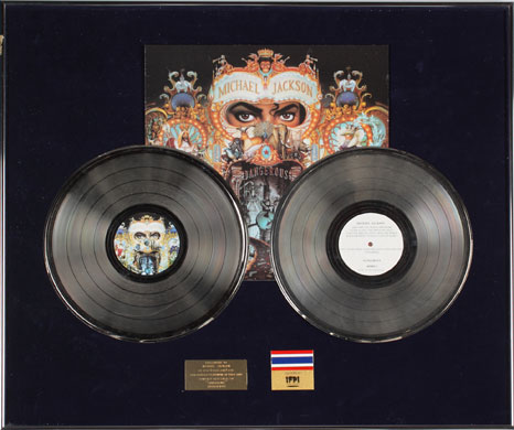 Michael Jackson's auction: Michael Jackson's record awards
