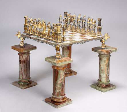 Michael Jackson's auction: Michael Jackson's marble chess table