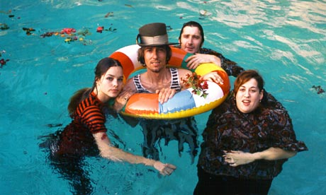 The Mamas and Papas in a pool