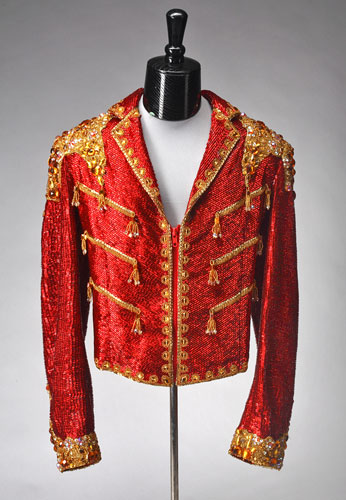 Michael Jackson auction 2: A zip front jacket with wide lapels