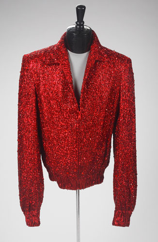 Michael Jackson auction 2: A red lame zip front jacket