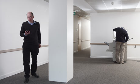 Alain De Botton in an office