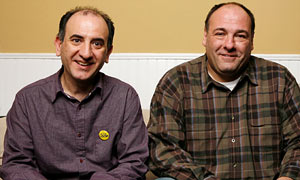 Armando Iannucci and James Gandolfini