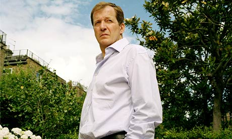Alastair Campbell in his garden