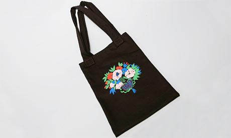 Celia Burtwell stencil print bag