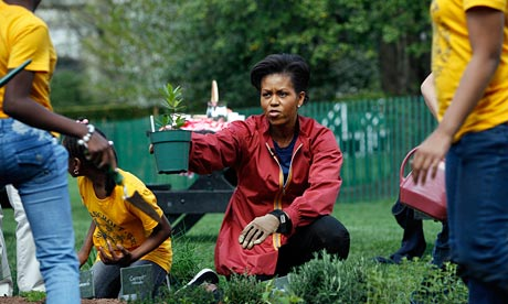 Michelle Obama in the House Kitchen Garden