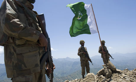 Pakistani soldiers above Swat valley