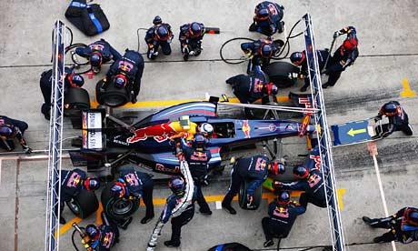 Sebastian Vettel pit stop